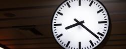 Train station clock